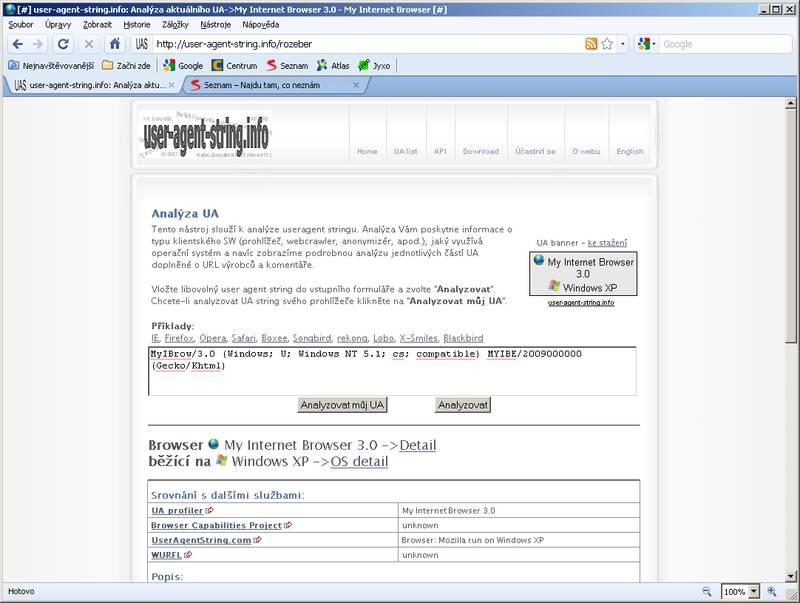 My Internet Browser <-UA list :: udger com