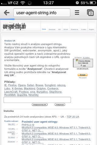 Chrome Mobile <-UA list :: udger com