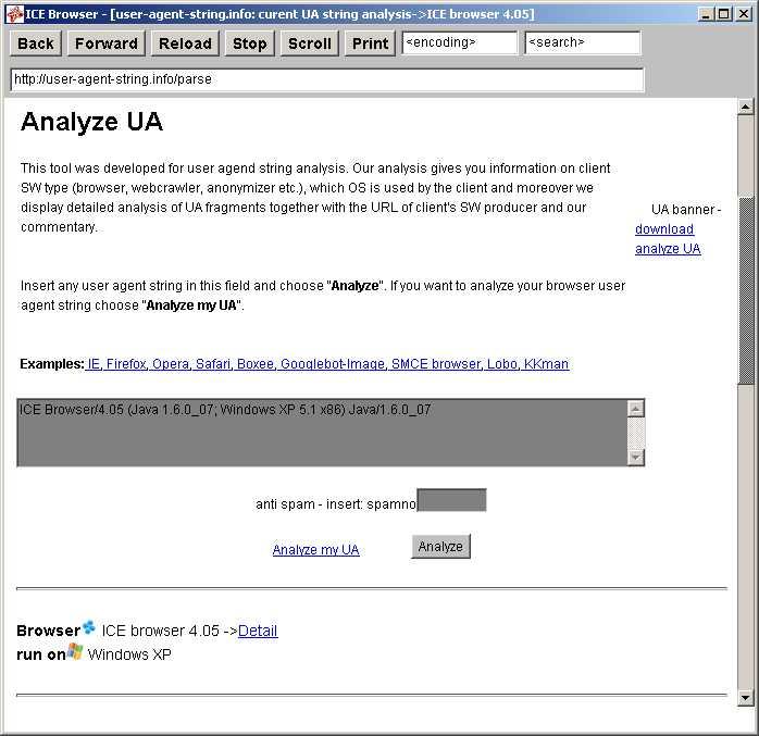 ICE browser <-UA list :: udger com